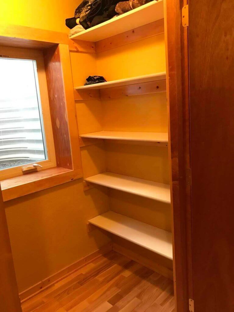 Closet in Wolf Den bedroom
