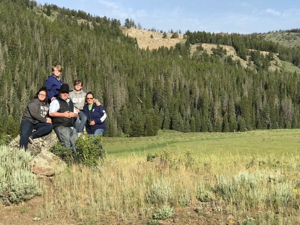 Enjoying a backcountry tour